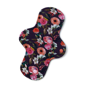 Heavy Absorbency Cloth Pads: Bold Grape Floral-Wishy-Washy Cloth