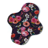 Light Absorbency Cloth Menstrual Pads: Bold Grape Floral-Wishy-Washy Cloth