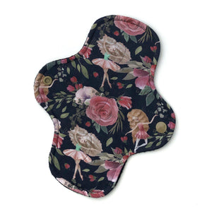 Light Absorbency Cloth Menstrual Pads: Ballet Floral-Wishy-Washy Cloth