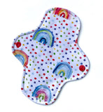 Light Absorbency Cloth Menstrual Pads: Watercolour Rainbow-Wishy-Washy Cloth