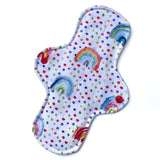 Moderate Absorbency Cloth Pads: Watercolour Rainbow-Wishy-Washy Cloth