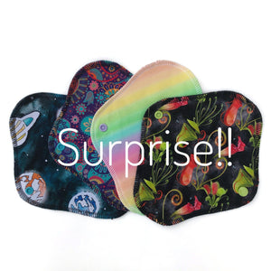 set of 4 reusable liners in surprise prints