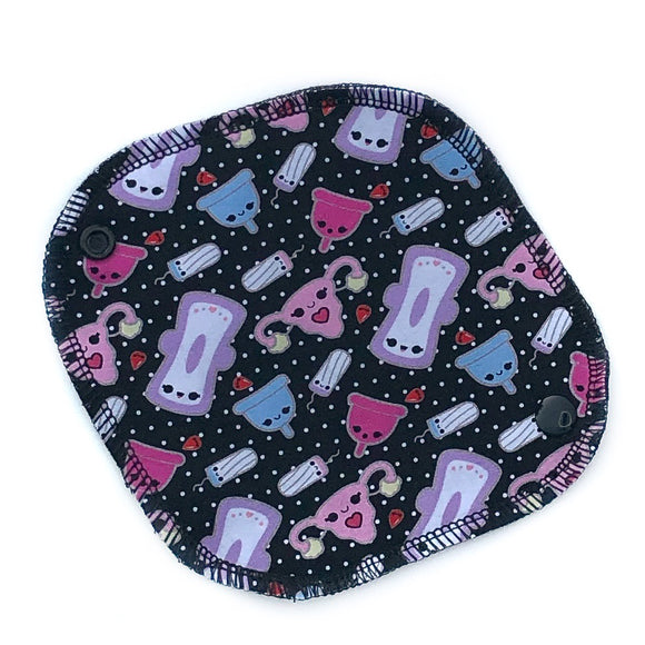 reusable mini pantyliner in seriously cute kawaii period product print