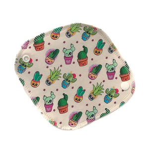 kawaii cacti print mini reusable pantyliner
