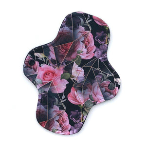 Light Absorbency Cloth Menstrual Pads: Geo Floral-Wishy-Washy Cloth