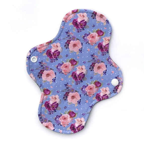 Light Absorbency Cloth Menstrual Pads: Periwinkle Garden