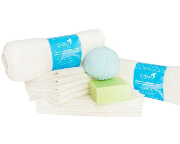 Organic Cotton Washcloths - set of 5