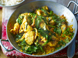 Poulet curry épinard