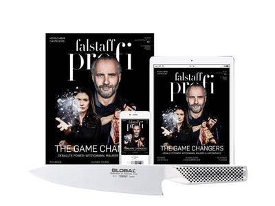 6 x Falstaff Profi Magazin Print & Digital & Global Kochmesser G-2
