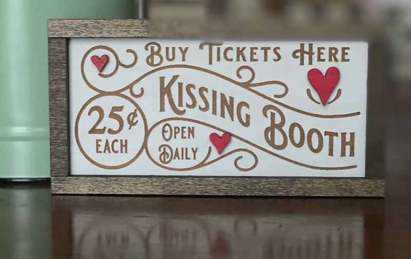 Kissing Booth Valentine's Day Tiered Tray Decor