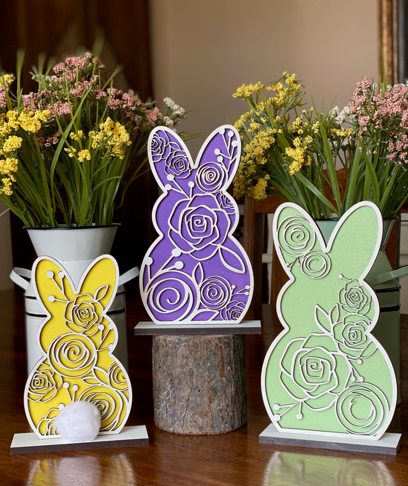 Set of 3 Bunny Easter Decor