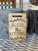Mini Bless this Kitchen Cutting Board Magnet/Tiered Tray Decor