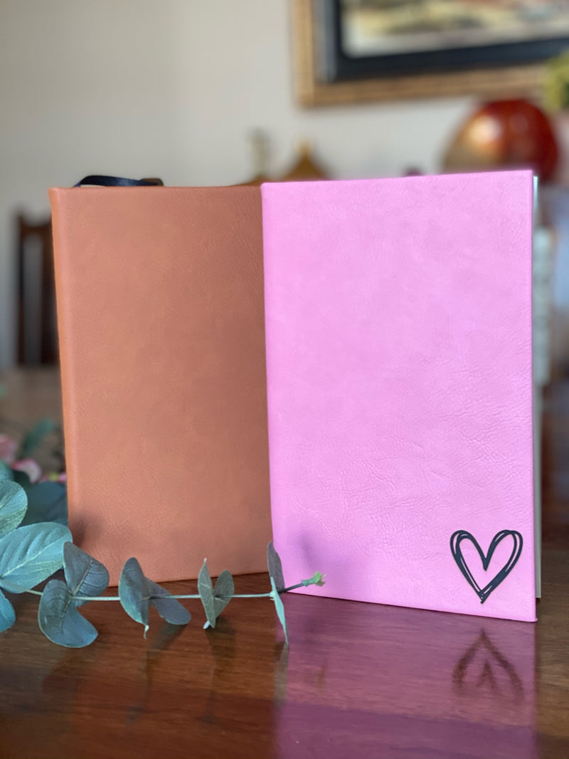 8.5 x 5.5 Personalized Leatherette Journals