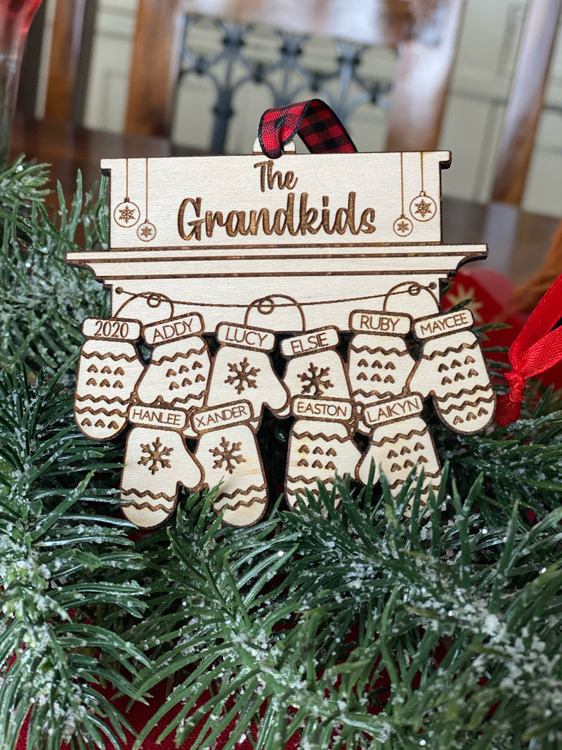 Personalized Mittens Ornament