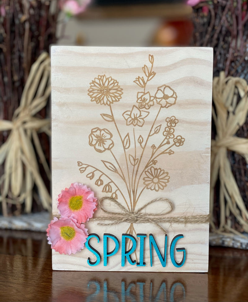 Wildflower Spring 5x7 Shelf Sitter