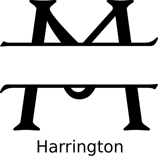 Round Monogram Name Sign