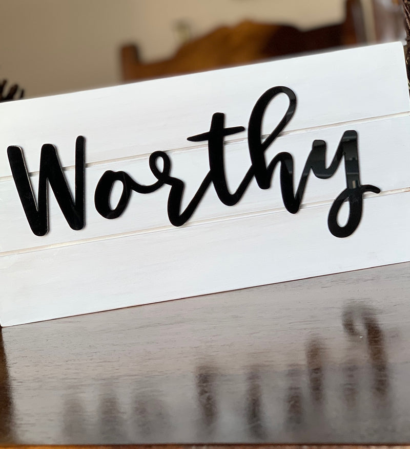 Personalized Inspirational Word Sign
