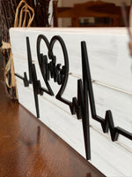 Nurse Heartbeat Wood Sign