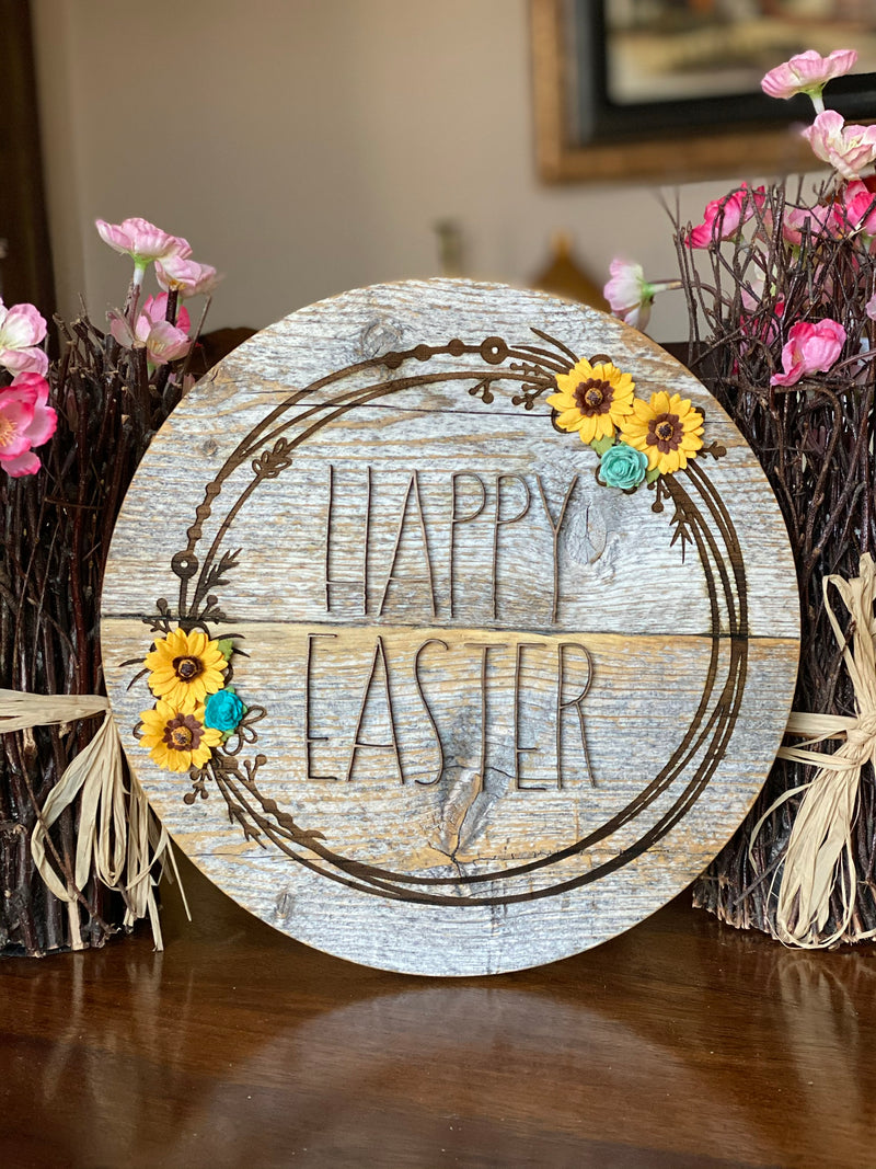 Happy Easter Barn Wood Sign
