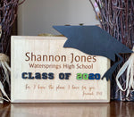 Graduation Pine Wood Plaque