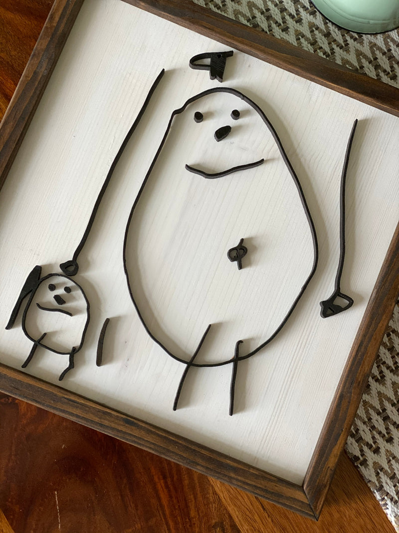 Laser Cut Kids Drawing or Sentiments