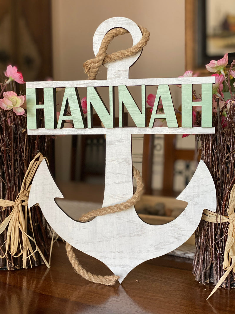 Personalized Anchor Nursery Name Sign