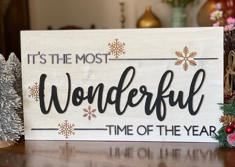 It's The Most Wonderful Time of Year Wood Sign