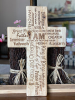 Names of God Wooden Cross