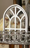 Fall Tiered Tray Cathedral Window with Engraved Falling Leaves