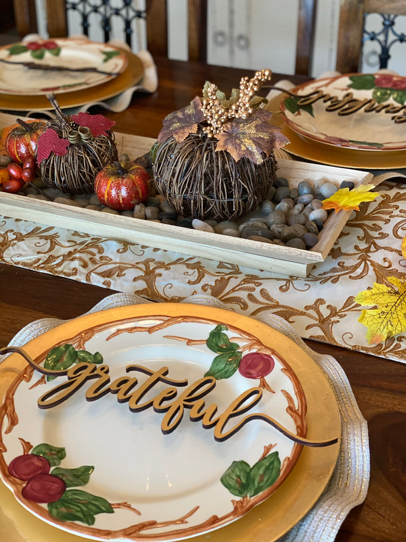 Table Place Settings Name Cards