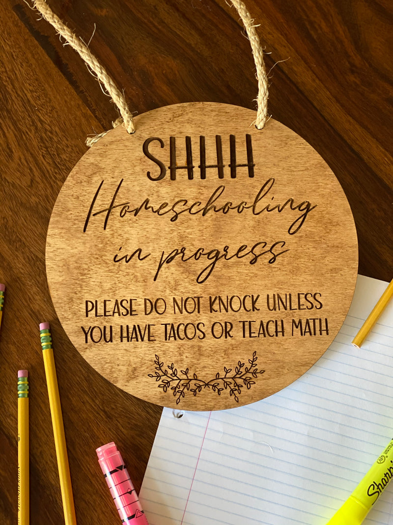 Virtual Learning/Homeschooling Door Tag