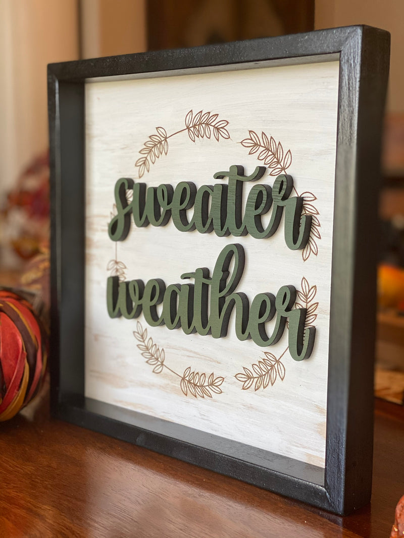 Sweater Weather 10x10 Fall Sign
