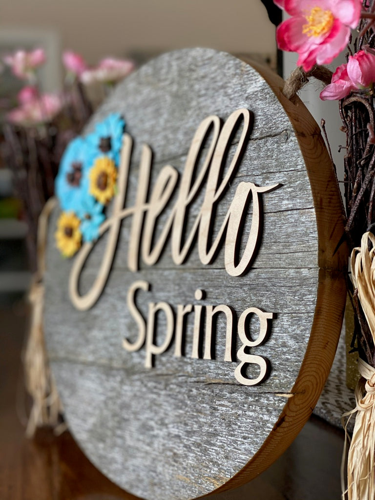 Happy Spring Door Sign