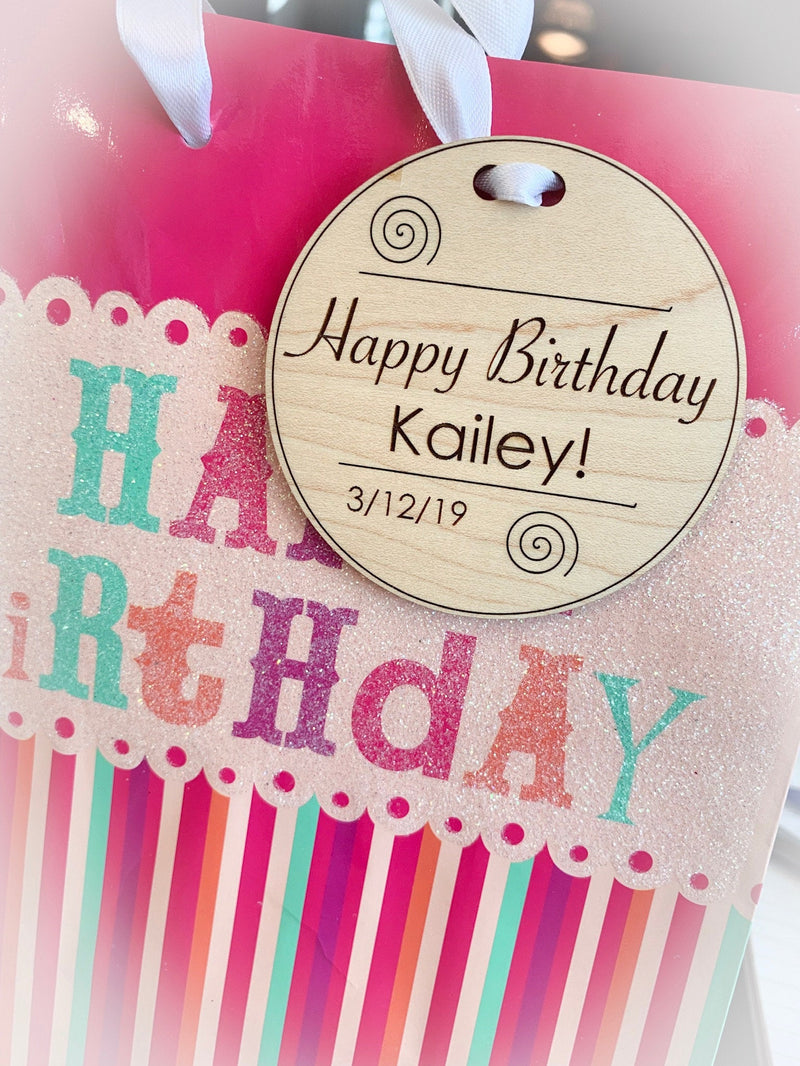 Custom large tags for gifts, medals, labels