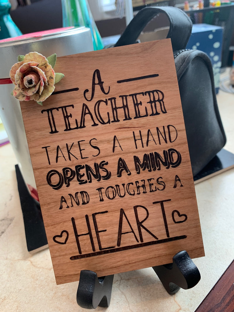 Teacher Appreciation Gift - Opens a Heart
