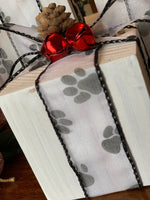 Paw Print Wood Presents