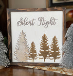 Silent Night/O Holy Night Wood Sign