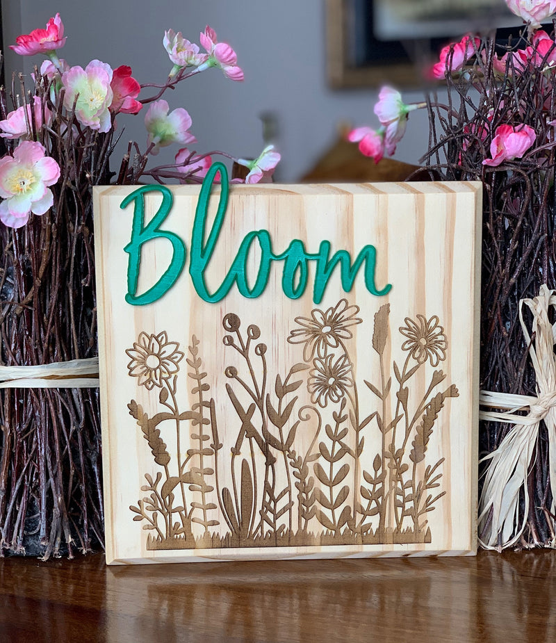 Spring Bloom Wood Sign
