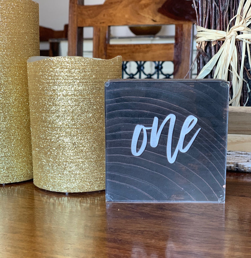 Custom Wedding or Special Event Table Numbers