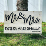 Custom 24x40 Established Name Sign