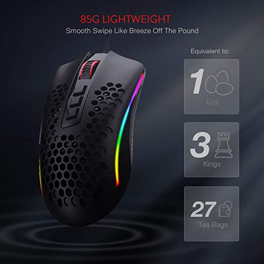 Redragon M808 Storm Lightweight RGB Gaming Mouse best price in Pakistan
