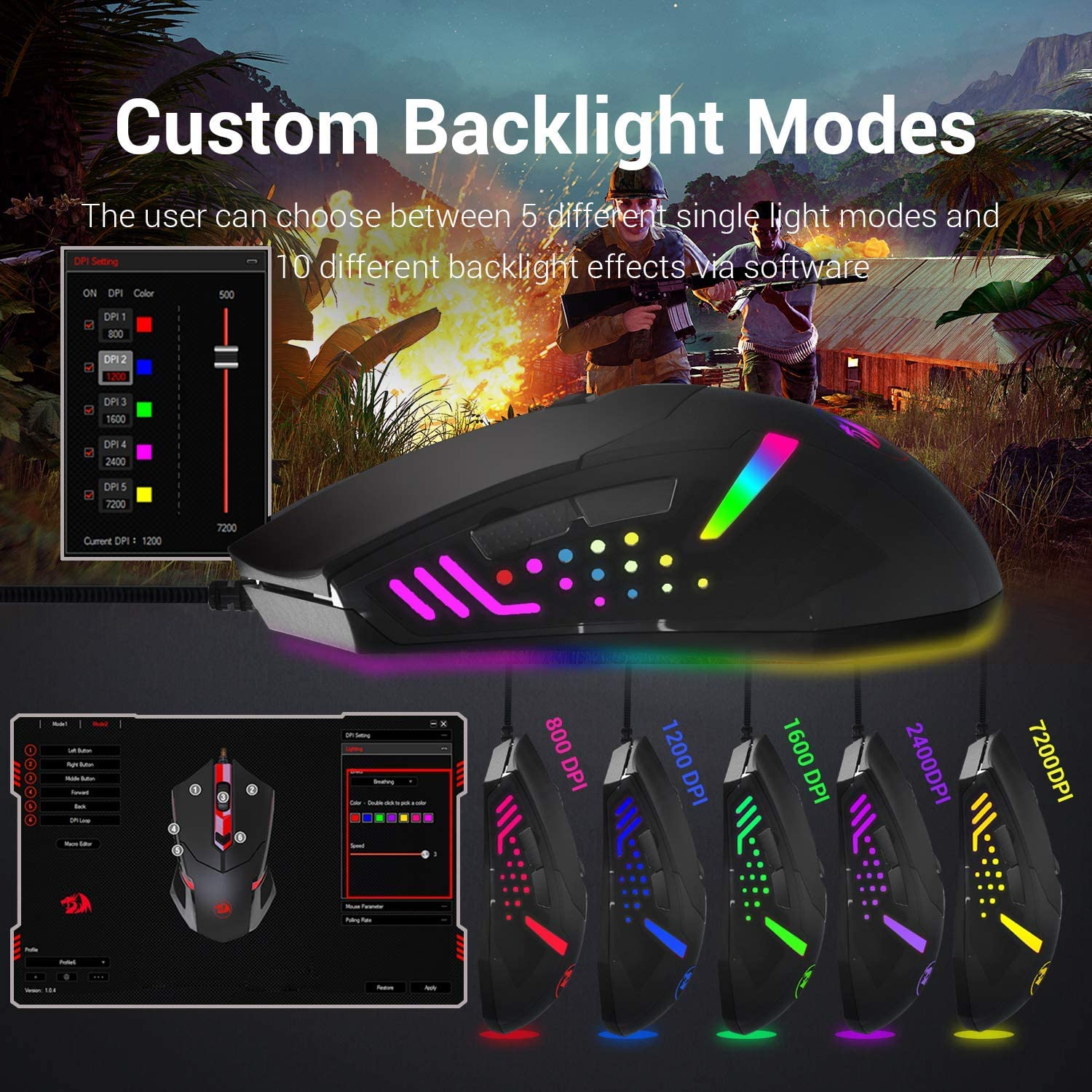 """The Redragon M601 RGB """"centrophorus"""" gaming mouse best price in pakistan"""