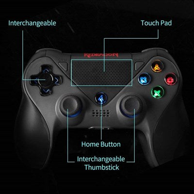 Redragon G809 JUPITER Wireless Gamepad Bluetooth Gaming Controller Joystick for Nintendo Switch, Play Station 4 PS4