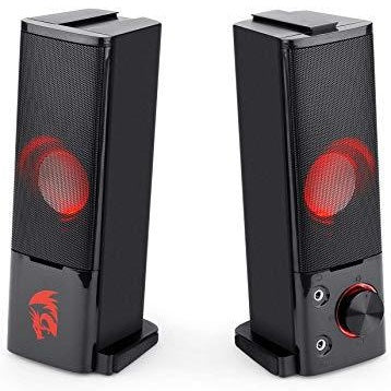 Redragon GS550 Orpheus PC Gaming Speakers, 2.0 Channel Stereo Desktop Computer Sound Bar