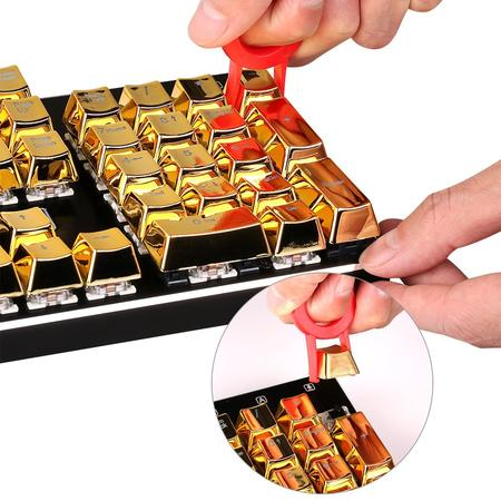 Redragon A101G 104 Metallic Electroplated Gold Color Keycaps for Mechanical Switch Keyboards with Key Puller