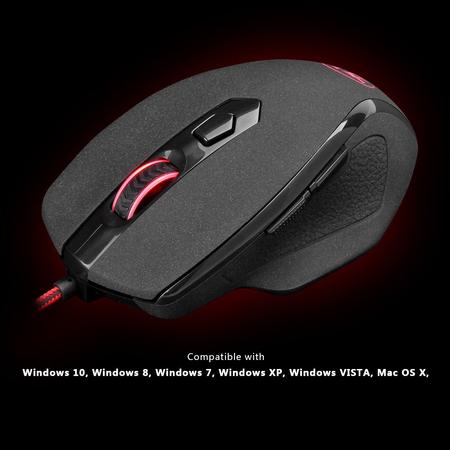 Redragon TIGER M709 10000 DPI, 7 Buttons Wired Gaming Mouse