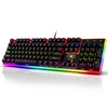 Redragon K577R Kali Mechanical Gaming Keyboard, Rainbow Backlit, Wired Competitive Ergonomic Keyboard