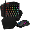 Redragon One-Handed Gaming Keyboard and M721-Pro RGB Mouse Combo K585 BA