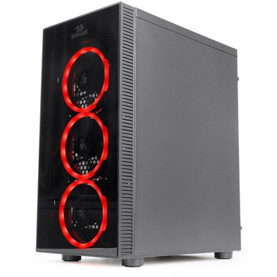 Redragon THUNDERCRACKER 3 x RGB LED Tempered Glass SideFront ATX Gaming Chassis Black GC605