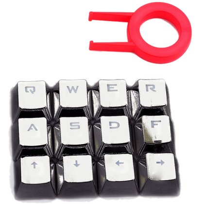 Redragon A103GR 12 Chrome keycaps MX Style with Key Puller